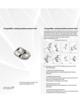 Compatible  Concealed Zipper Foot