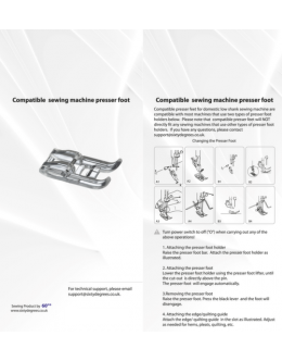 Compatible  Clearview Foot (For Horizontal Bobbin 7mm)