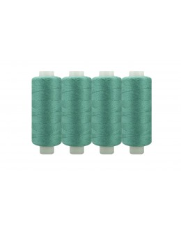 Shan® All Purpose Polyester Sewing Thread - Pack of 4 reel - Antique Green