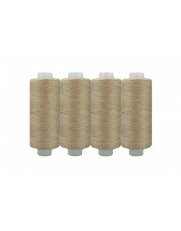 Shan® All Purpose Polyester Sewing Thread - Pack of 4 reel - Beige