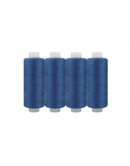 Shan® All Purpose Polyester Sewing Thread - Pack of 4 reel - Blue