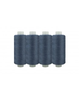 Shan® All Purpose Polyester Sewing Thread - Pack of 4 reel - Blue grey