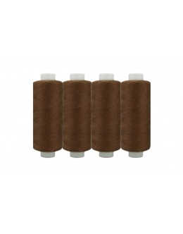 Shan® All Purpose Polyester Sewing Thread - Pack of 4 reel - Brown