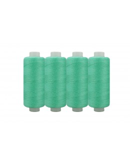 Shan® All Purpose Polyester Sewing Thread - Pack of 4 reel - Cobalt Green
