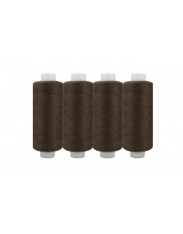 Shan® All Purpose Polyester Sewing Thread - Pack of 4 reel - Dark Brown