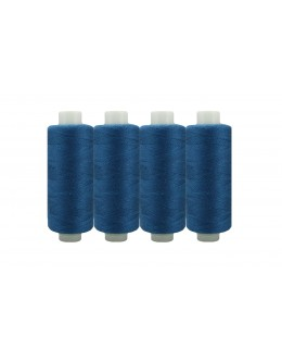 Shan® All Purpose Polyester Sewing Thread - Pack of 4 reel - Dark Madonna blue