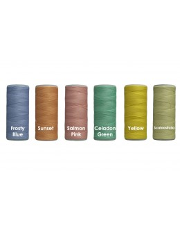 Shan Cotton thread 365 metre/400 yard reel X 6 - Pastel Collection