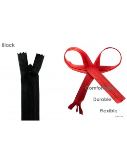 SBS invisible zipper- Colour Black