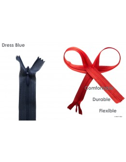 SBS invisible zipper- Colour Dress blue