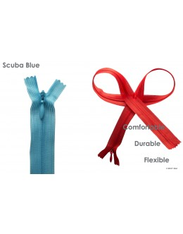 SBS invisible zipper- Colour Scuba Blue