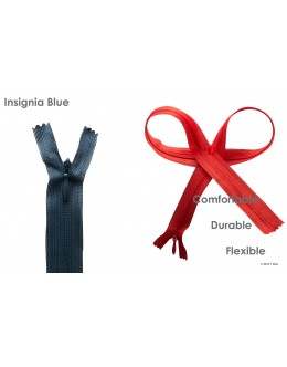SBS invisible zipper- Colour Insignia blue