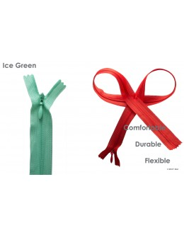 SBS invisible zipper- Colour Ice green