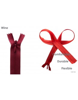 SBS invisible zipper- Colour Wine
