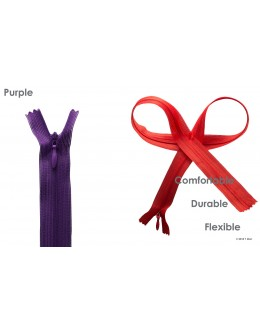 SBS invisible zipper- Colour Purple