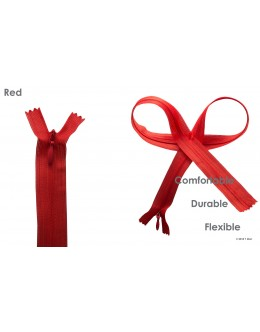 SBS invisible zipper- Colour Red